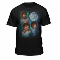 Bob Ross The Joy of Painting Officially Licensed Moon T-Shirt Black