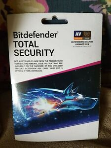 Bitdefender Total Security - 5 Devices | 1 year Subscription | PC/Mac |