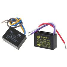 Black CBB61 1.5uF+2.5uF 3 Wires AC 250V 50/60Hz Capacitor For Ceiling Fan