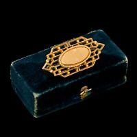 Antique Vintage Nouveau 14k Yellow Gold Filled GF Geometric Unisex Pin Brooch