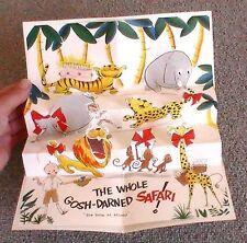 Vintage 1955 Norcross foldout pop up popup birthday card in postmarked envelope