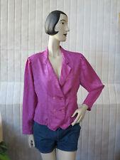 JOY Damen Bluse Shirt Top 90er True VINTAGE 90s woman blouse shiny flowers pink