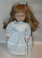 Vintage STUPSI Doll W. Germany 18 inch Cloth Face Painted Eyes Blond Blue Eyes