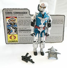 1987 G.I. JOE COBRA COMMANDER • C9 • 100% COMPLETE w/ FILECARD