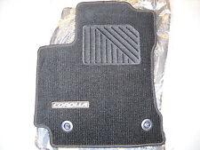2014 Toyota Corolla Carpet Floor Mats, 4pc  Black W/Amber, A/T, PT206-02142-23