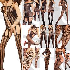 Various Bodystocking Fishnet Teddy Babydoll Bodysuit Open Crotch Sexy Lingerie