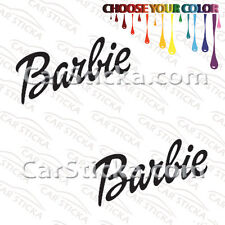 "2 of 8"" Barbie /A car truck bumper window vinyl stickers decals die cut"