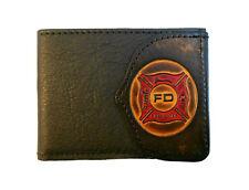 Firefighter Leather Billfold Wallet, Fireman Fire Department, Bifold & Keychain