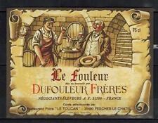 Etiquette de Vin - Dufouleur frères - Le fouleur -  New - Never Stuck - Réf.n°10