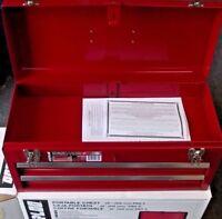 Waterloo PCH2020 20-1/2 L x 8-1/2 W x 9-1/2 High Red 2 Drawer Metal Tool Box