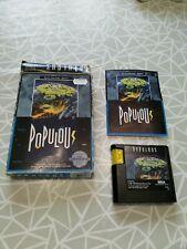 Populous, Sega Mega Drive, Genesis with instructions and box