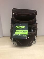 AWP suede 10 Pocket construction Tool Bag/Pouch Suede leather NO BELT New W/ Tag