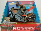 Marvel Spiderman Miles Morales RC Motorbike Remote Control High Speed Age 8+ Toy
