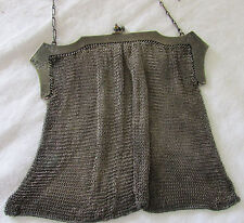 Antique Whiting & Davis Mesh Evening Purse with Amethyst Cabochon Clasp 1920s