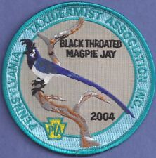 """Pa Pennsylvania Fish Game Commission NEW 2004 4"""" PTA Magpie Jay Taxidermy Patch"""