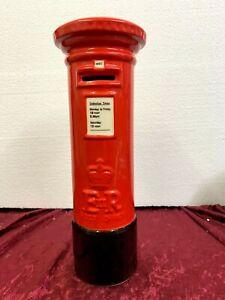 Royal Mail Post Box Piggy Bank Money Box British Mailbox Money Slot Holder Red