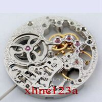 17 Jewels Full Skeleton Silvery Hand Winding 6497 movement fit Parnis watch A74