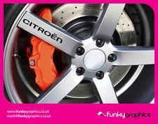 Citroen C2 logo DS3 roue alliage decals stickers graphics x5 en vinyle noir