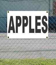 2x3 APPLES Black & White Banner Sign NEW
