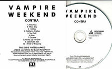 VAMPIRE WEEKEND Contra 2010 UK numbered 10-track promo test CD