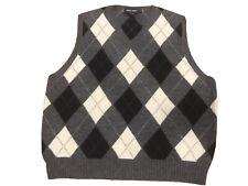 VTG Ralph Lauren Polo Golf Argyle Wool V-Neck Sweater Vest XL Alpaca Lambswool