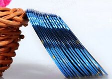 AA1: 2PCS BLUE Rolls Striping Tape Line Nail Tips Sticker DIY w/Free Gift