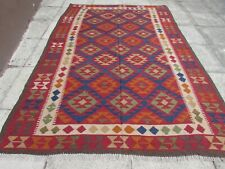 Kilim Vintage Traditional Hand Made Oriental Large Kilim Red Wool 300x200cm