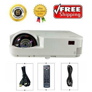 NEC M333XS DLP Projector Short-Throw NP-M333XS 3300 ANSI HD 1080p HDMI bundle