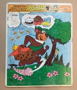 Vintage 1976 Hanna-Barbera Yogi Bear Inlaid Puzzle No. 122 Made in USA