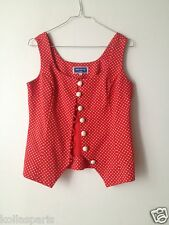 Top Pin up Gilet PartyPris Paris Rouge pois blanc 0 36