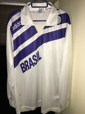 Camisa Adidas voleibol de Brasil Olimpiadas Barcelona 1992 VINTAGE TRIKOT JERSEY Viejo