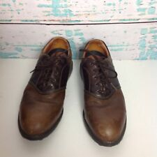 Nike Air Brown Leather Oxford Brogue Golf Shoes 10 UK 9 EUR 44 Two Tone Lace Up