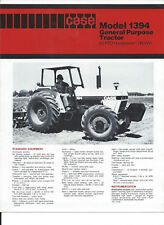 CASE DB 1394 USA CAB ROPS Fender  4wd Tractor sales Leaflet Brochure