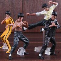 4 Pcs/set Cool Bruce Lee Kung Fu PVC Collection Model Action Figures Toys