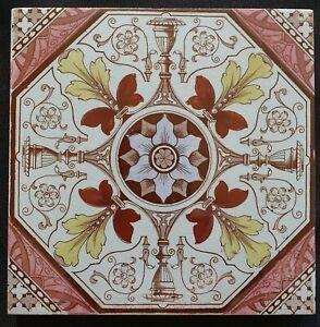 Carron Aesthetic movement Print & Tint Tile. Booth. C1888