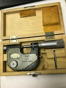 """VIN INDICATING MICROMETER WITH STAND, 0-1"""" CAPACITY, CARBIDE ANVILS"""