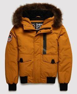 "Superdry Men's Everest Bomber Jacket Flaxen Size: L 40"" (102cm) RRP £119.99"