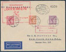 Katapultflug 22.7.1929 MiF Brief ab Berlin Bremerhaven nach New York (S19178)