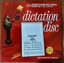 Vintage Dictation Disc Shorthand Record Vinyl Album Education