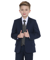 Boys Suits Boys Check Suits, Page Boy Wedding Prom Formal Suit, Boys Navy Suit A