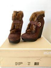 NEW Michael Kors Lara Wedge Boots 6M