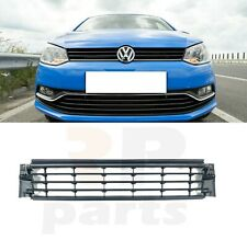 FOR VW POLO 6R 6C 2014 - 2017 CENTER FRONT BUMPER LOWER GRILLE CHROME