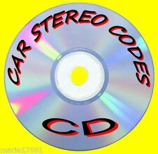 RECOVER LOST CAR AUDIO/RADIO/STEREO CODE CALCULATOR UNLOCK PROGRAM HELP PC/CD