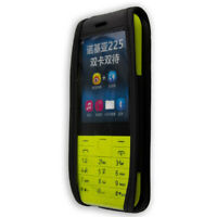caseroxx Leather-Case with belt clip for Nokia 225 in black made of genuine leat