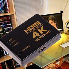Switcher Box HDTV Hub Selector 4K*2K Ultra Splitter Switcher 3in 1out HDMI