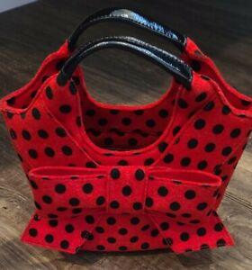 Kate Spade Purse Bag Red with Black Polka Dot EUC gray condition