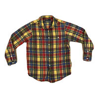 Polo Ralph Lauren Colorful Plaid Long Sleeve Button Up Shirt Men's Medium
