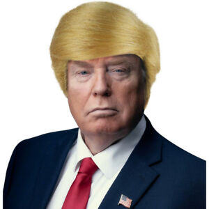 Blonde USA President Halloween Donald Trump Fancy Dress Costume Wig
