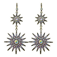 Kirks Folly Mystic Star Leverback Earrings (Brasstone)