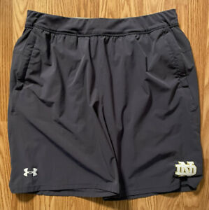 Notre Dame Football Team Issued Under Armour Coaches Shorts Xl KELLY